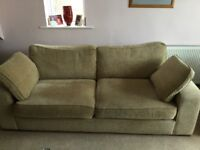 3 piece suite with duck feather cushions.