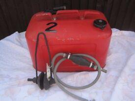 Quicksilver boat fuel tank, pump and wash mufflers
