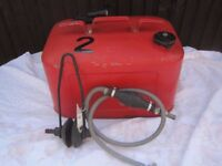 Quicksilver boat fuel tank, pump and wash mufflers