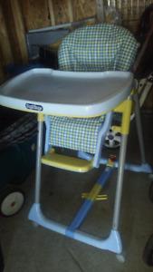 Chaise haute Peg PEREGO, PLIABLE, coussins en cuirette
