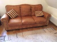 Sofa and foot stool