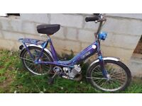 Classic French Purple Motobecane - Motoconfort 49cc Mobylette - Moped. Restoration Project