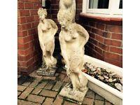 Garden stone lady statue/ornament