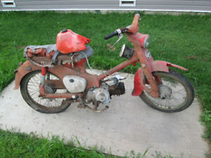 honda cub 50 1960s for parts or fix run's. trade or $ offer