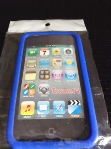 iPod touch 4th generation case blue silicon