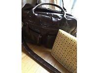 Koto brown leatherette changing bag