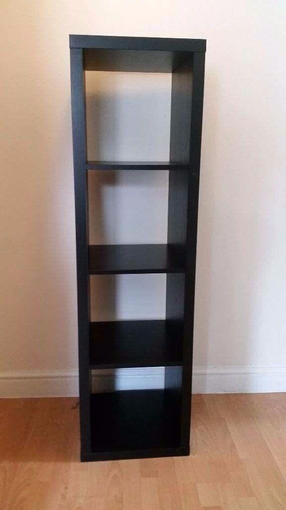 IKEA KALLAX 4x1 unit black