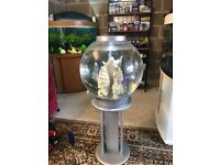 Large 60l bi orb fish tank v g c full set up with stand pump light lid gravel nice ornament all work