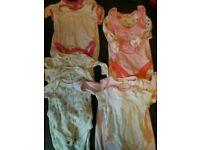 Girls newborn sleepsuit and vest sets