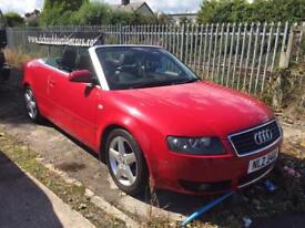 Audi A4 convertible excellent condition fsh 2.4 v6