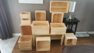 Caisses en bois neuf