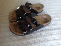 Birkenstock sandals - ladies black patent