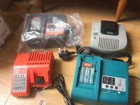 Drill battery's and chargers all brand new