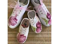 Set shoes for mum and daughter,Set shoes for daddy and son,Set shoes and T-shirt