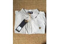 Brand New With Tags Grey Lyle and Scott Polo Shirt Large