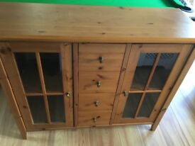 Glass door sideboard