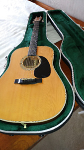 MARTIN D 28 ACOUSTIC GUITAR , -excellent, with MARTIN case