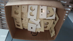 Large Assortment of Used Electric Switches/Outlets and Covers