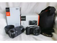 Sony Alpha A5000 Compact System Camera 16-50mm with 55-210 Lense