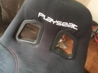 PlayStation 3/4 gaming chair and steering wheel