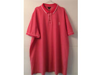 Men's Red Coral Short Sleeve Light Weight Polo Shirt 3xl From Smoke/ Pet free home