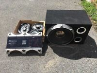 Car/Van JBL AMP Amplifier and Subwoofer Big SUB Two 6x9s and two tweeters speakers. ICE