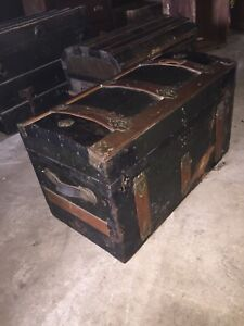 Antique chests of different types and ages