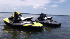 SEADOO SPARKS with Double Trailer