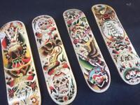 Decorative skateboards