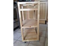 Wooden trolley with wheels - ikea