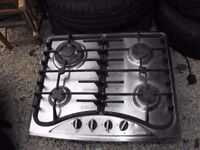 Gas hob Baumatic cooker good condition - with small dent