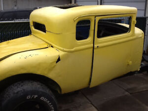 1929 Dodge 5-Window Coupe, 1932 Ford Style Hot Rod Rat Rod