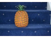 Retro Vintage Pineapple Ice Bucket - Glass Bowl Inside