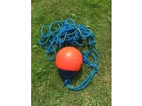 Orange Buoy with rope attached approximately 12 inch diameter pear shape, good condition £5