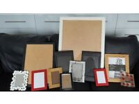 Photo frames x12 diffetent sizes