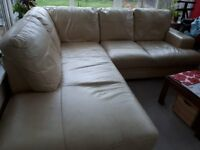Lovely Leather Corner Sofa needs a new home ASAP!
