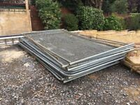 15 Panels of Heras Fencing, 18 Feet & 22 clips