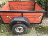 Trailer 3x4ft , very good condition .