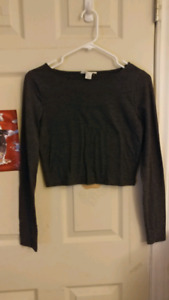 Forever21 Long Sleeve Crop Top Size S