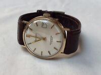 vintage 9k 9ct solid gold Accurist mens watch (date window)