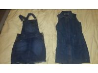 Jeans dress x2 ,7-8 from M&S