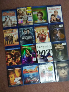 80 Blu-ray movies for sale (some new)