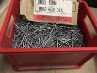 Job lot 65mm oval brads