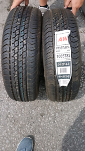 Pair of New 195/70R14 Motomaster AW tires GOOD DEAL