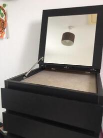 Tall Malm Ikea drawers