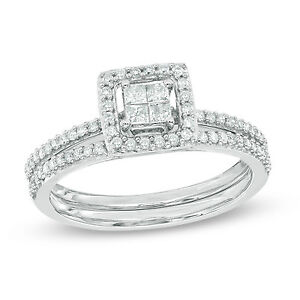 Mint condition engagement-wedding set from people's size 8