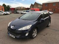2008 Peugeot 308 Diesel Good Condition with Satnav Panoramic Roof history and mot