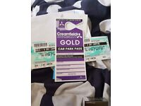 2X Creamfields 4 Day Gold Camping Tickets