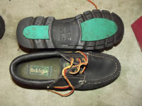 PAIR SIZE 8 ROCK FALL SHOES WITH LEATHER UPPERS EXCELLENT CONDITION