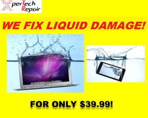 LIQUID CLEANING/WATER DAMAGE*MACBOOK PRO*AIR *iPhone ONLY>$39.99